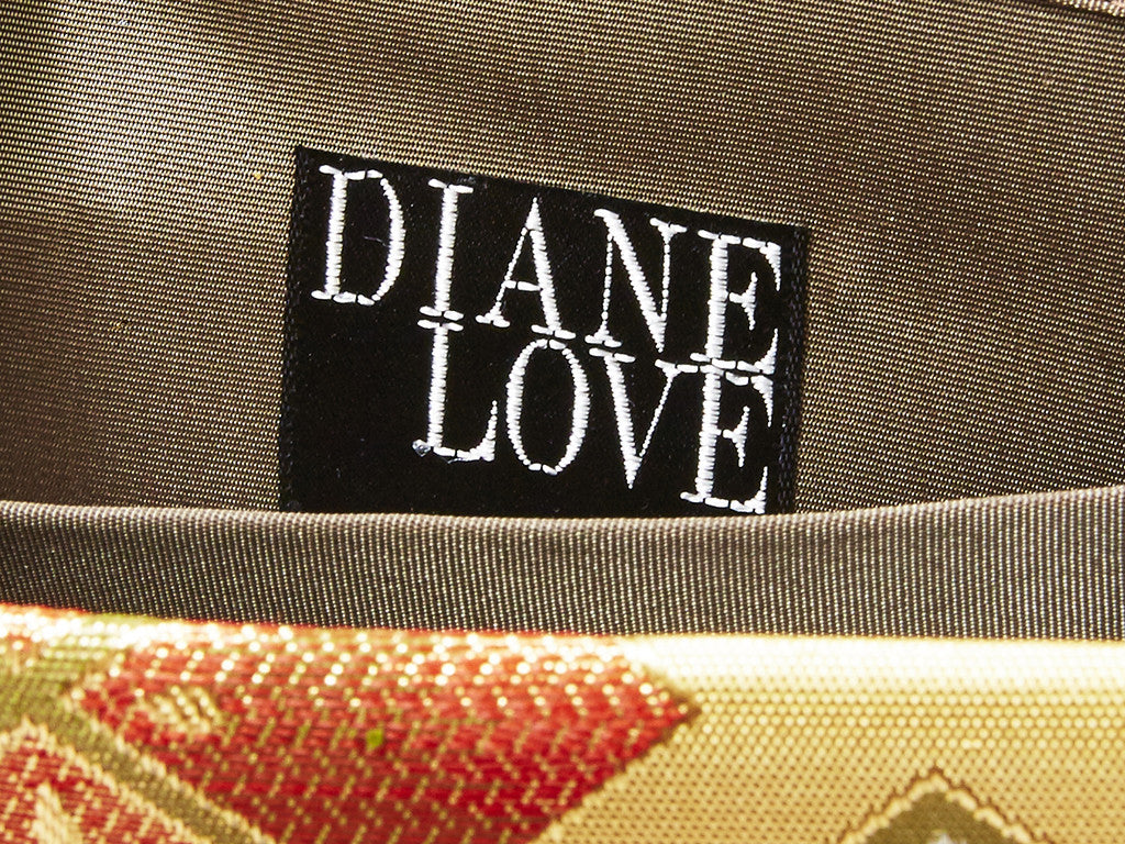 Diane Love Gold Metallic Evening Bag