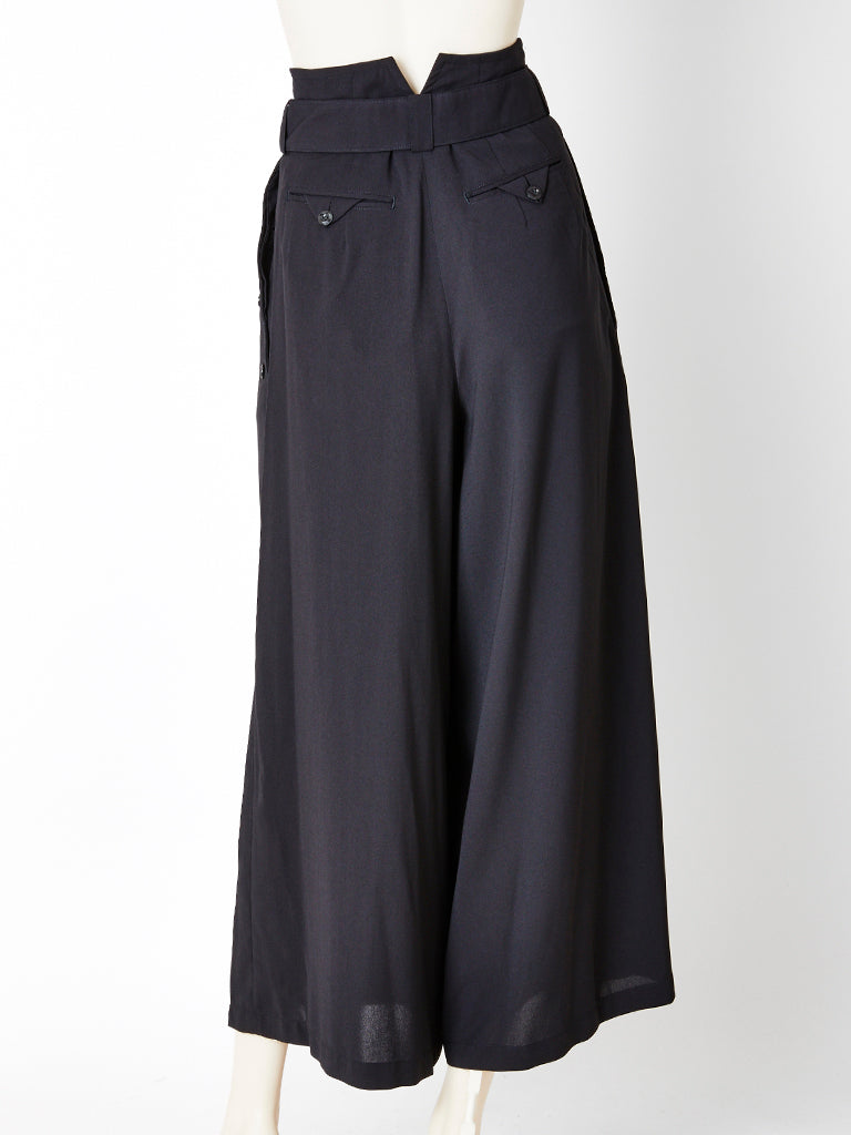 Matsuda High Waisted Wide Leg Trousers