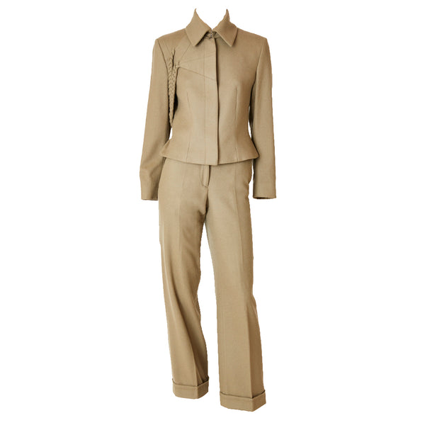Alexander McQueen Wool Pantsuit With Braiding Detail