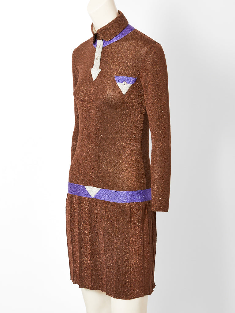 Emanuelle Khanh for Missoni Lurex Knit Dress C. 1966