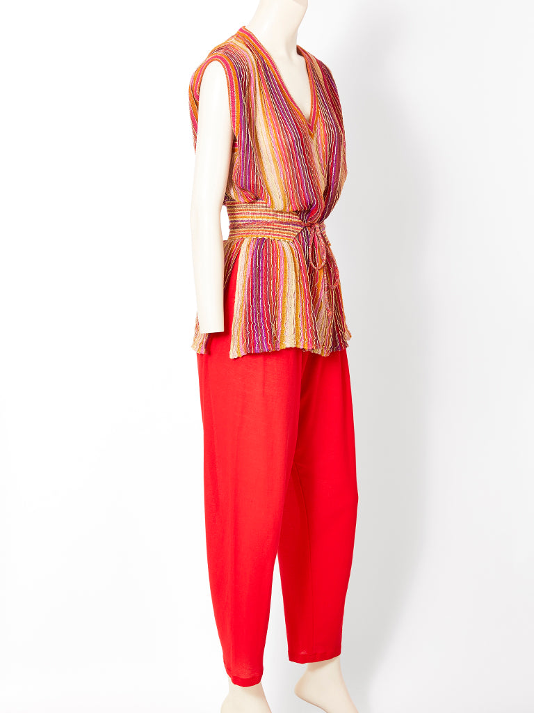 Missoni Lurex Knit Pant Ensemble