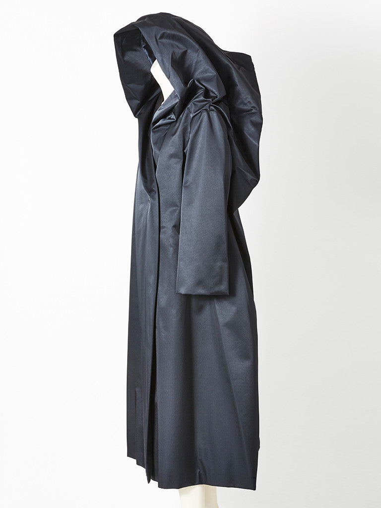 Miyake Dramatic Hooded Evening Coat