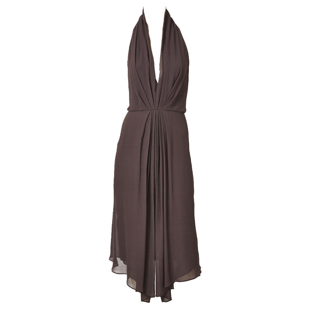Muglar Chiffon Halter Neck Cocktail Dress