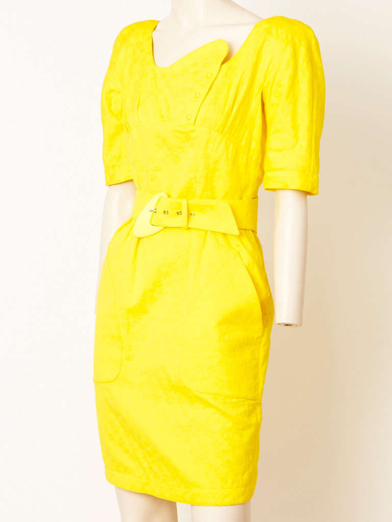 Thierry Muglar Belted Summer Dress