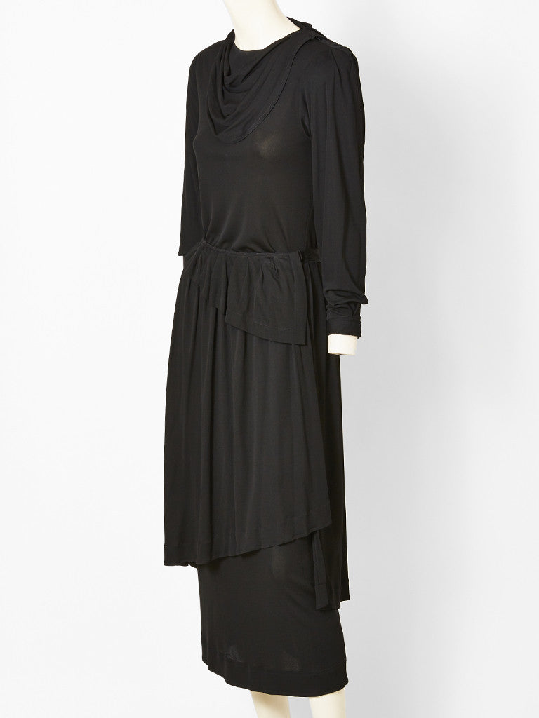 Jean Muir Black Jersey Dress