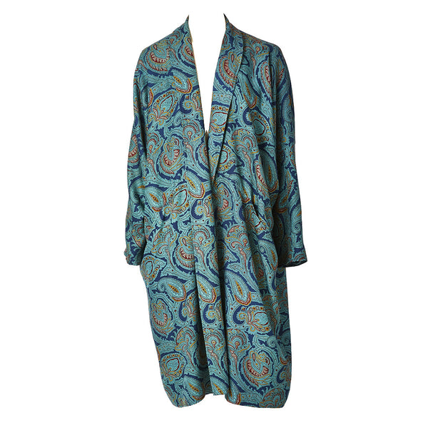 Jean Muir Silk Liberty Print Robe/Coat