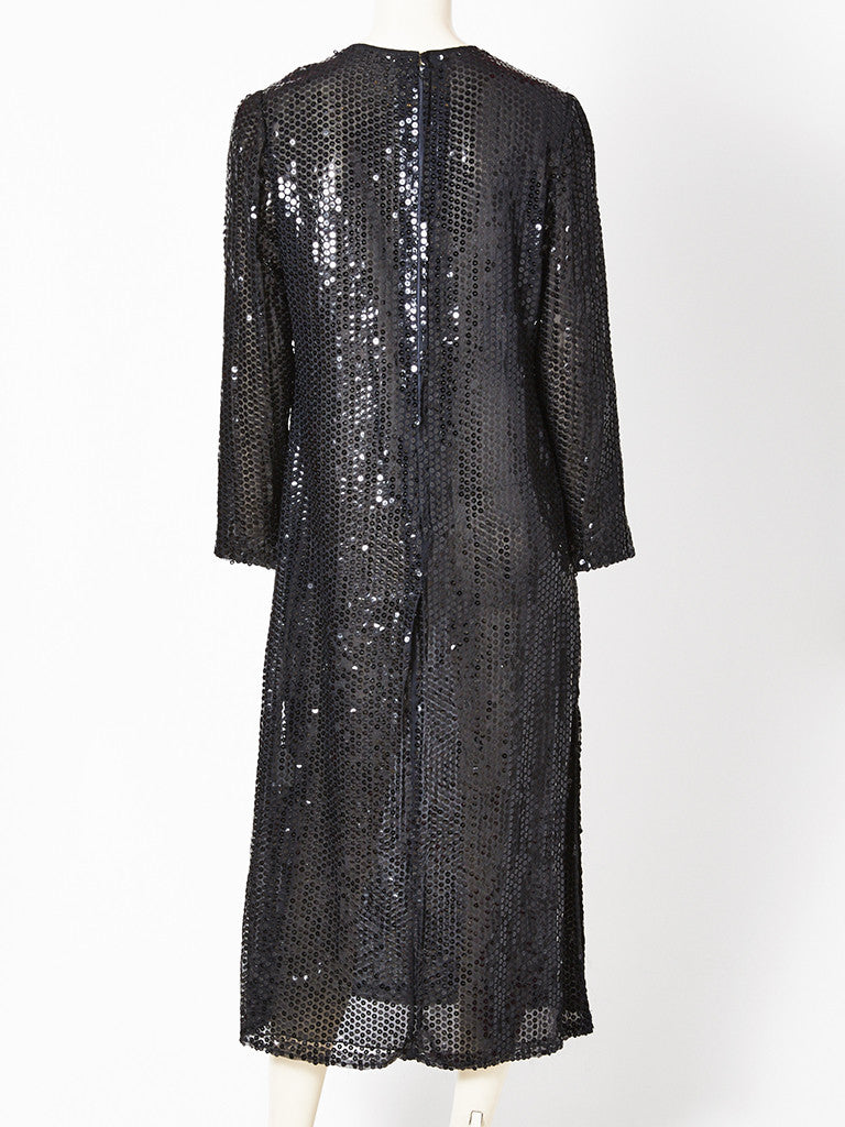 Sequins On Chiffon Sheath