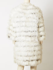 Collarless Maribou Feather Cardigan