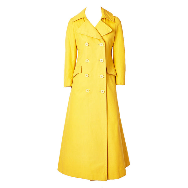 Chrome Yellow Cotton/Canvas Maxi Coat 1970's
