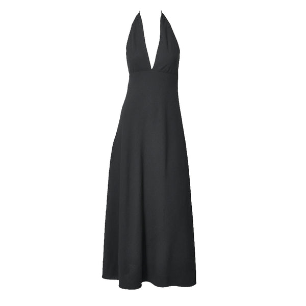 Norman Norell Crepe Halter Neck Gown