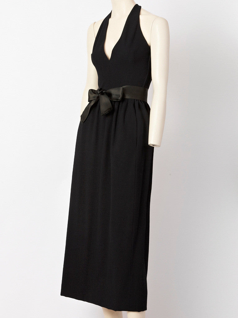 Norell Halter Neck Gown