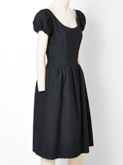 Norell Wool Boucle Day Dress