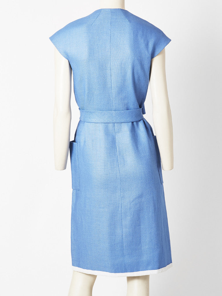 Norell Moygashel Linen Day Dress