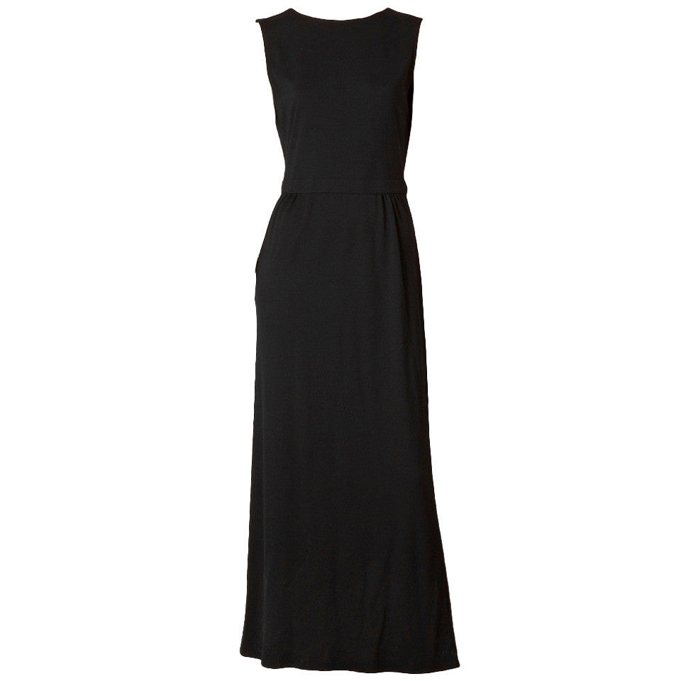 Geoffrey Beene Wool Jersey Dress With Cut Out Back