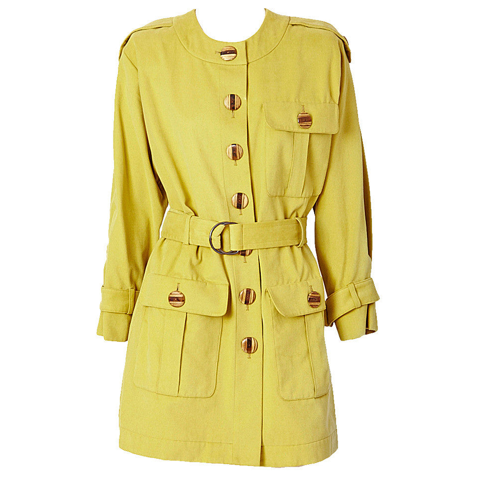 Yves Saint Laurent Belted Safari Jacket