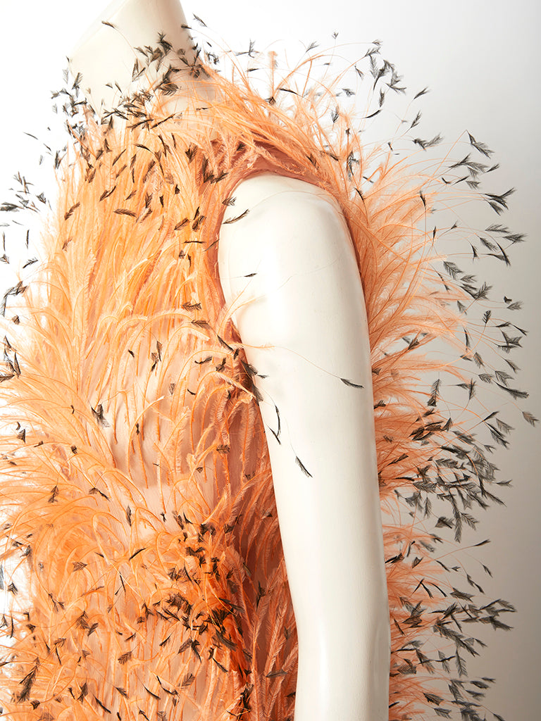Balenciaga Ostritch Feather Gown C.1967