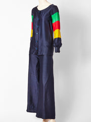 Jean Patou Raw Silk 60's Pant Ensemble