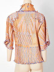 Zandra Rhodes Jacket with Plissé Detail