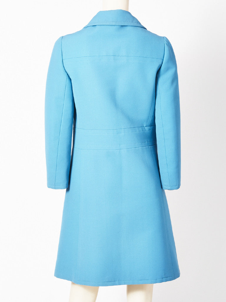 Nina Ricci Robins Egg Blue Spring Coat