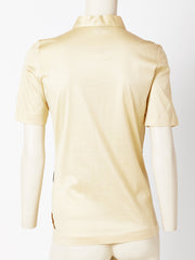 Roberta Di Camerino Cotton Knit Polo Shirt