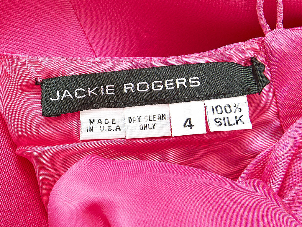 Jackie Rogers Fuchsia Organza Halter Blouse