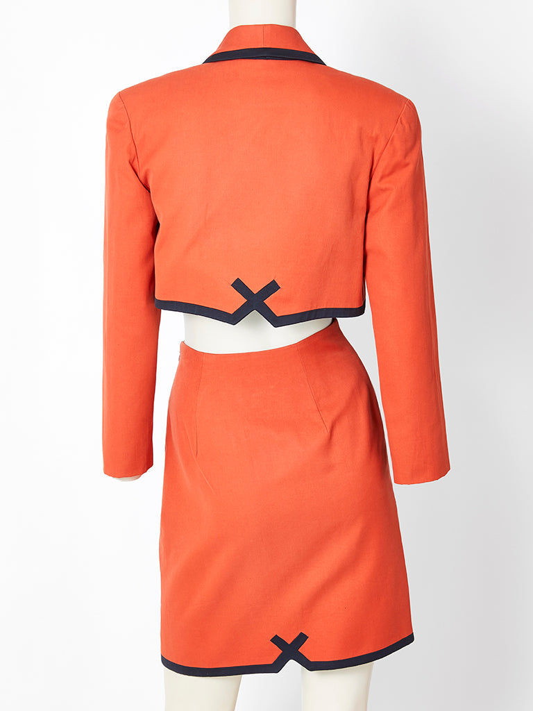 "Christian Francis Roth ""Button"" Skirt Suit"
