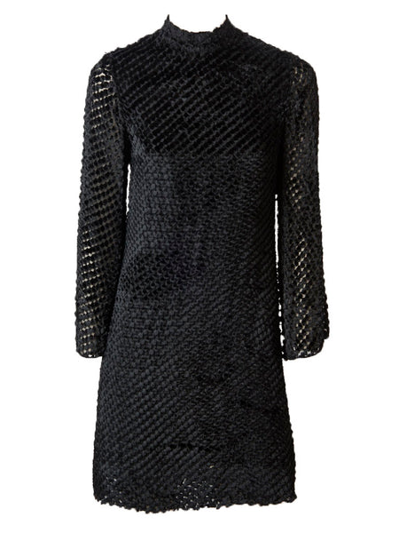 Rudi Gernreich  Late 60's Cut Velvet Mini Dress