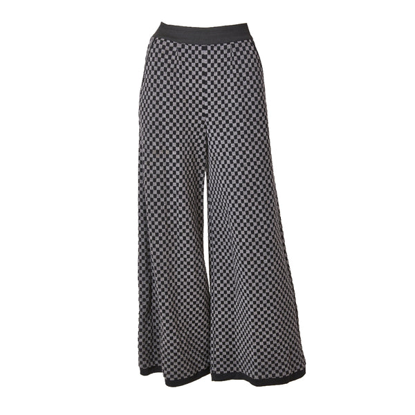 Sonia Rykiel Checkered Wool Knit Trouser