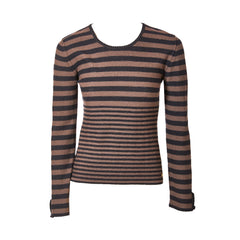 "Sonia Rykiel Stripe ""Poor Boy"" Wool Knit Sweater"