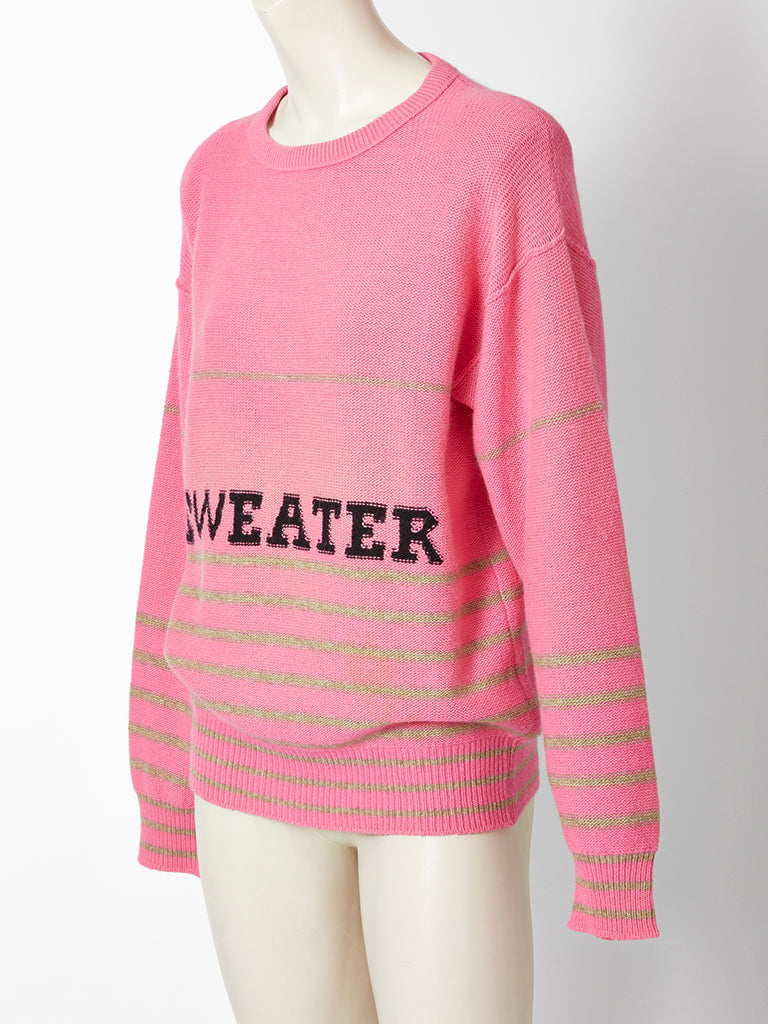 Sonia Rykiel Oversize Sweater With Graphics