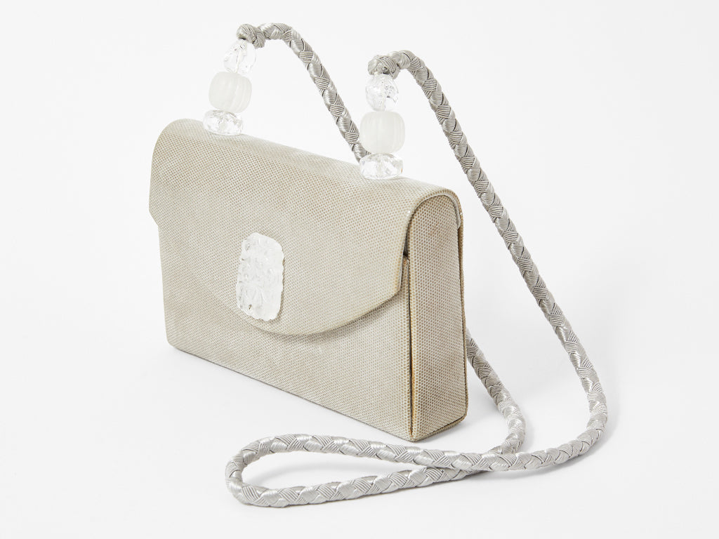 Rafael Sanchez Pearlized Suede Evening Bag
