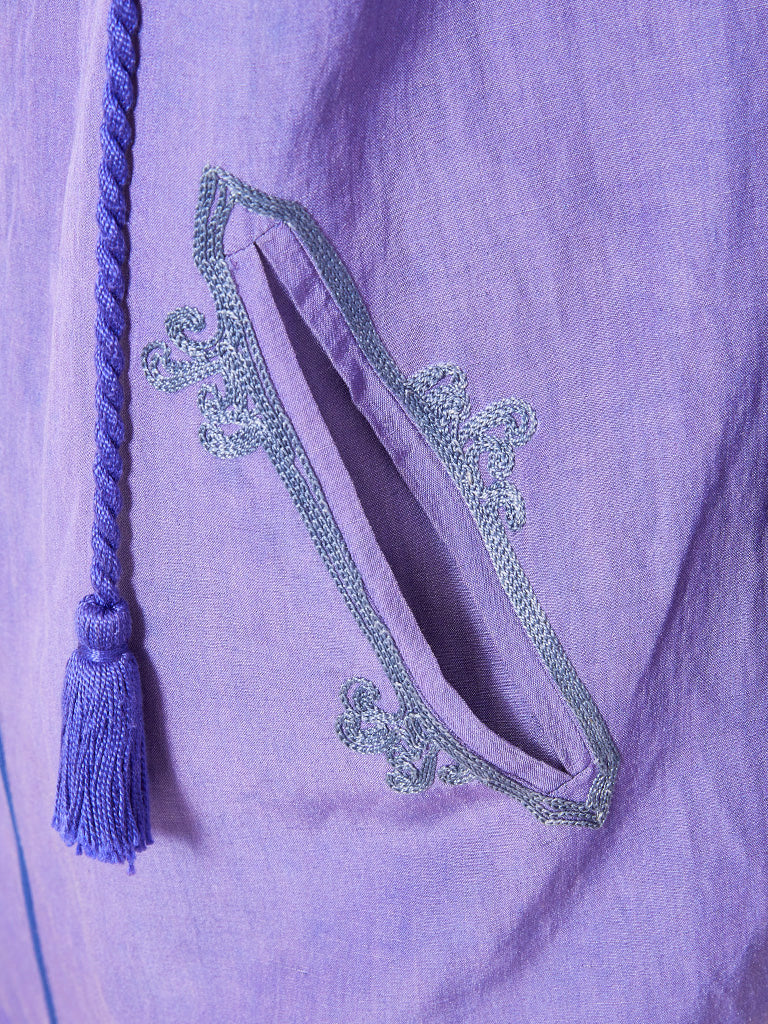 Shamask Linen and Silk Hooded Tunic and Pant Ensemble