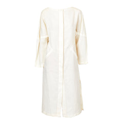 Shamask Linen Midi Dress With Fagotting Detail