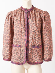 Yves Saint Laurent Rive Gauche Liberty Print Quilted Jacket