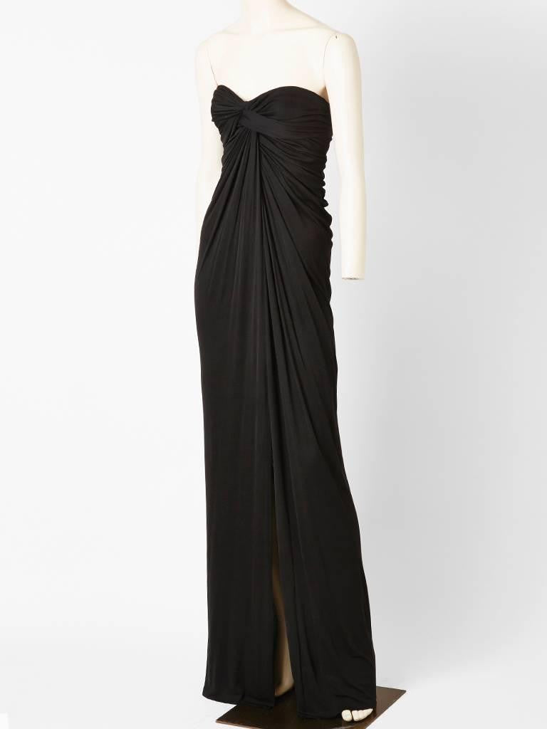 Stavropoulos Black Jersey Gown