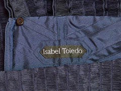 Isabel Toledo Pleated Taffeta Cocktail Dress