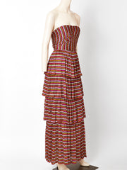Isabel Toledo Strapless Jersey Maxi Dress