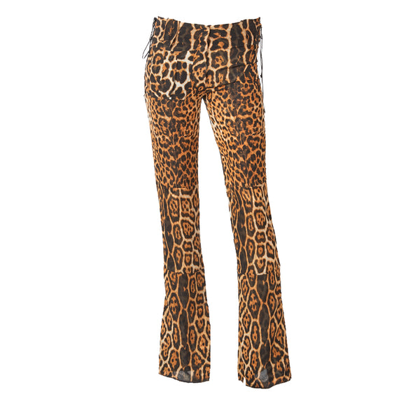 Tom Ford YSL Leopard Pattern Pants