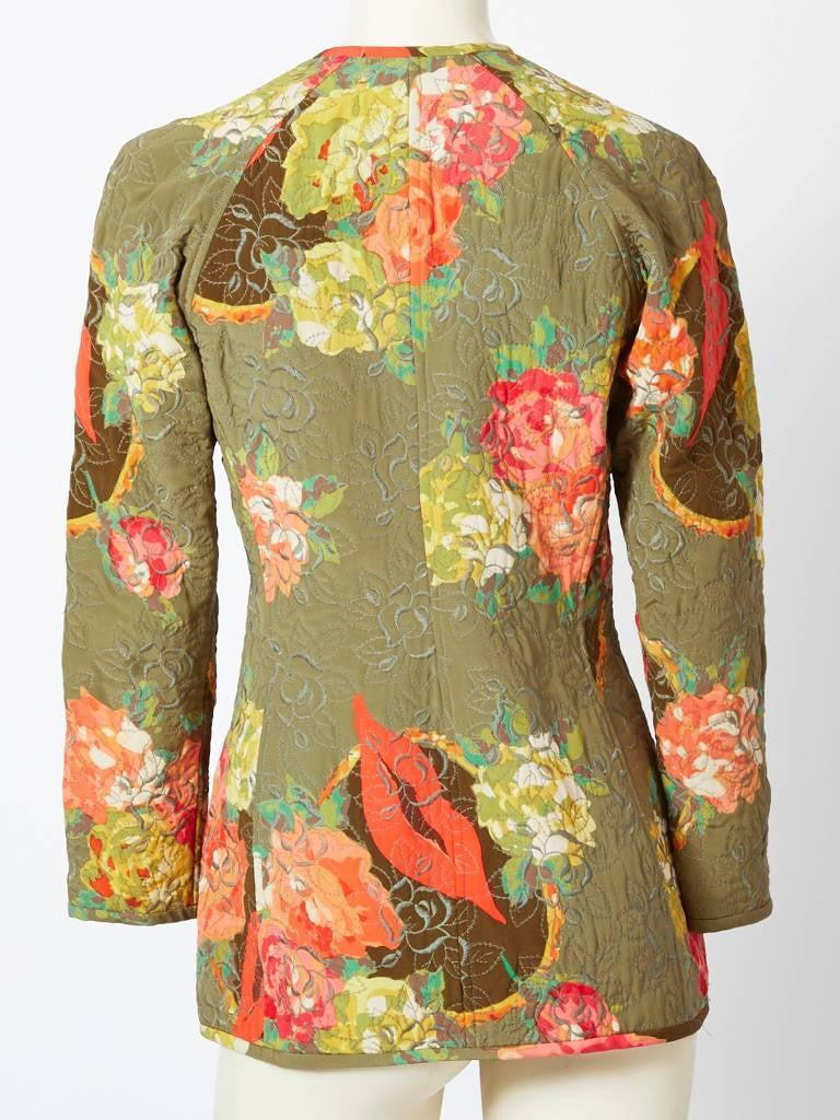 Ungaro Floral Print Quilted Jacket