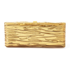 VBH Pleated Bronze Leather Clutch
