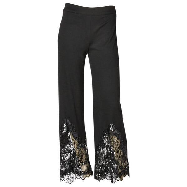 Valentino Pant With Sequin + Lace Detail