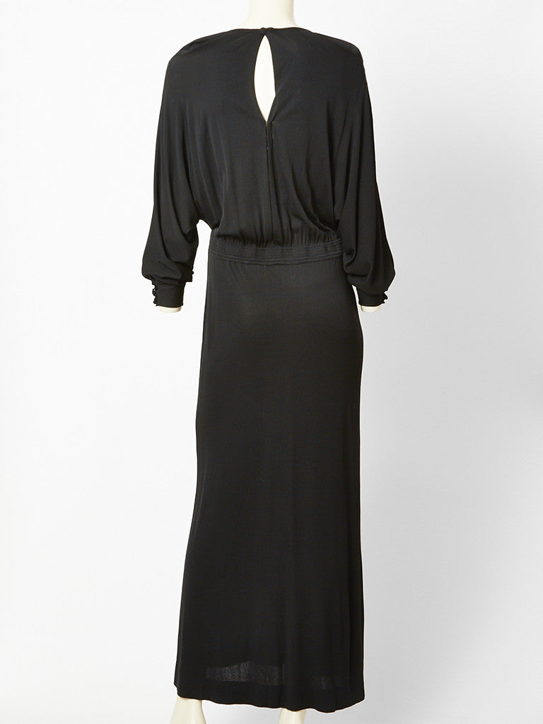 Valentino Black Jersey Gown