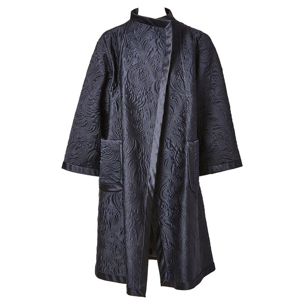 Valentino Couture Silk Matelasse Evening Coat