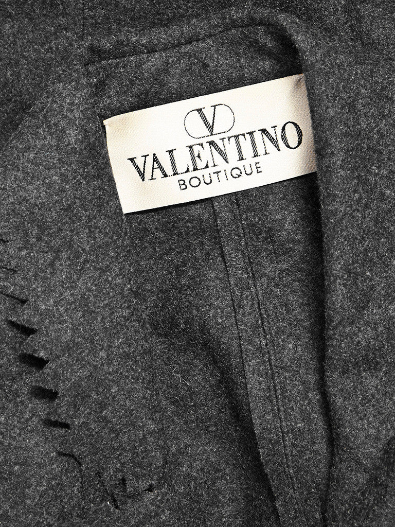 "Valentino Wool Flannel Suit With ""Pinked"" Edging"