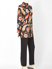 Valentino Silk Quilted Jacket and Pant Ensemble
