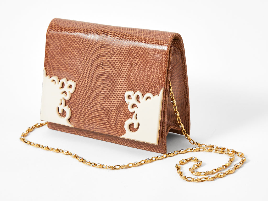 Valentino Lizard Shoulder Bag
