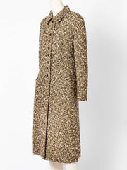 Valentino Fitted Tweed Coat
