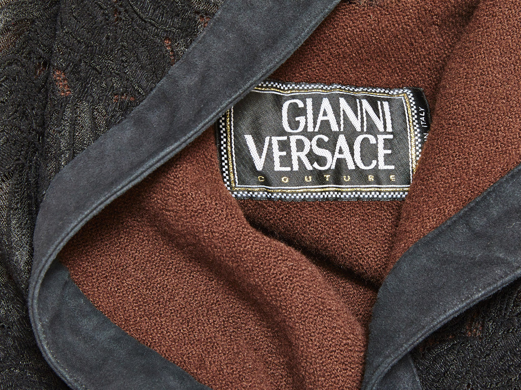 Gianni Versace Couture Coat with suede trim