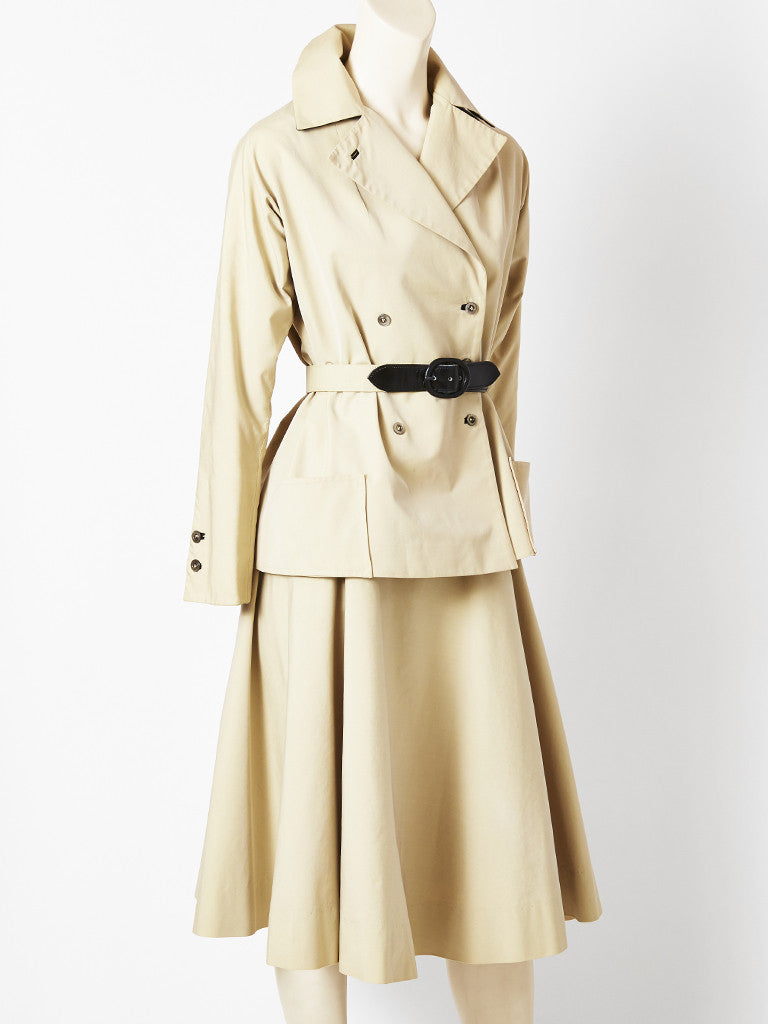 Women's Haberdashers Khaki Skirt Suit