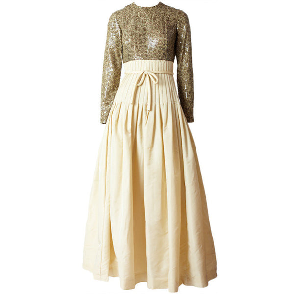 Mignon Sequined and Taffeta 60's Gown